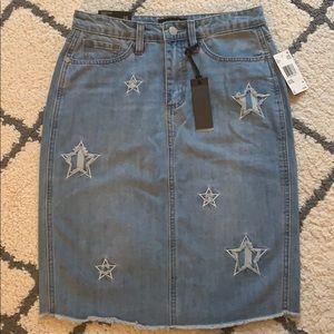 Buffalo Star Denim Skirt